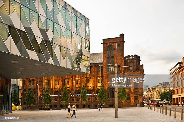 spinningfields square, john rylands library - manchester england stock pictures, royalty-free photos & images