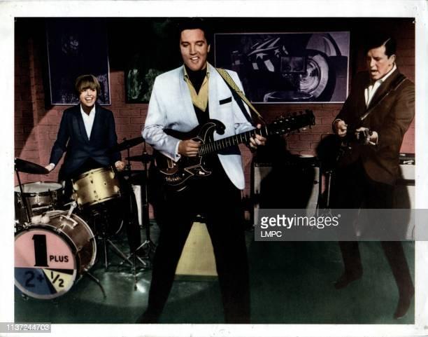 Spinout poster from left Deborah Walley Elvis Presley Jimmy Hawkins 1966