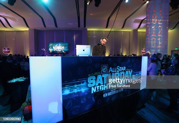 DJ spins music at the 2019 NHL AllStar Saturday Night Party at the San Jose Convention Center on January 26 2019 in San Jose California