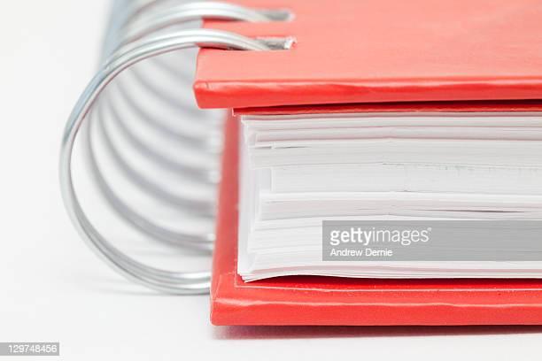 spiral bound notebook - andrew dernie stockfoto's en -beelden