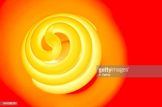spiral bulb - infrared lamp stock photos and pictures