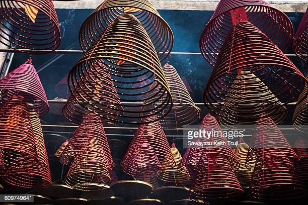 spiral incense - incense coils stock photos and pictures