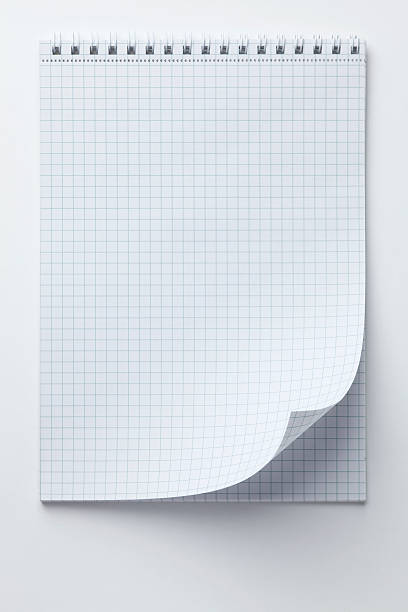 A Spiral Notepad With Graph Paper And A Curled Up Page Corner Wall Art