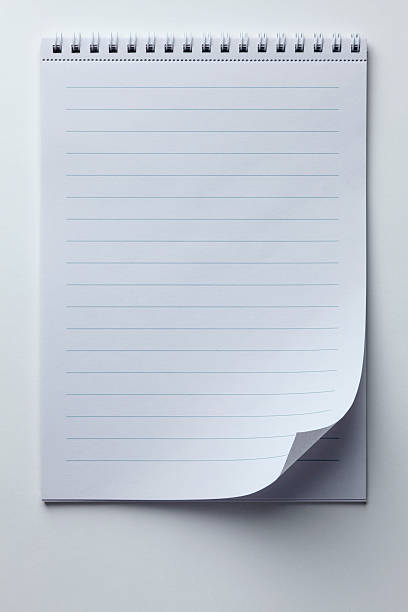A Spiral Notepad With Lined Paper And A Curled Up Page Corner Wall Art