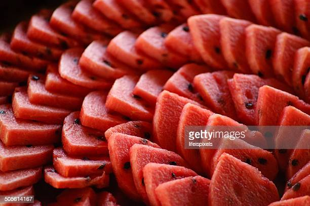 spiral red melons - lifeispixels stock pictures, royalty-free photos & images
