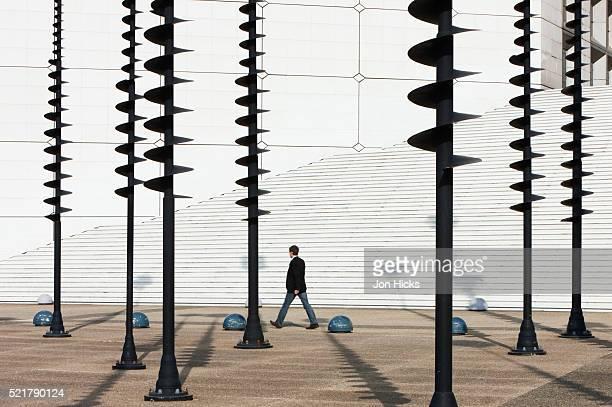 Spiral sculptures at La Defense.