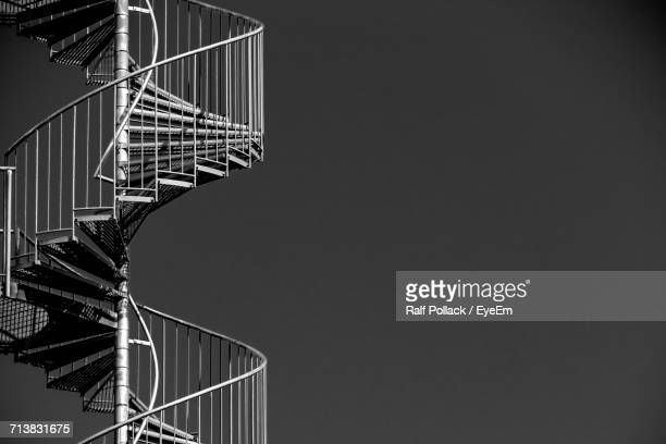 Spiral Staircase Against Clear Sky