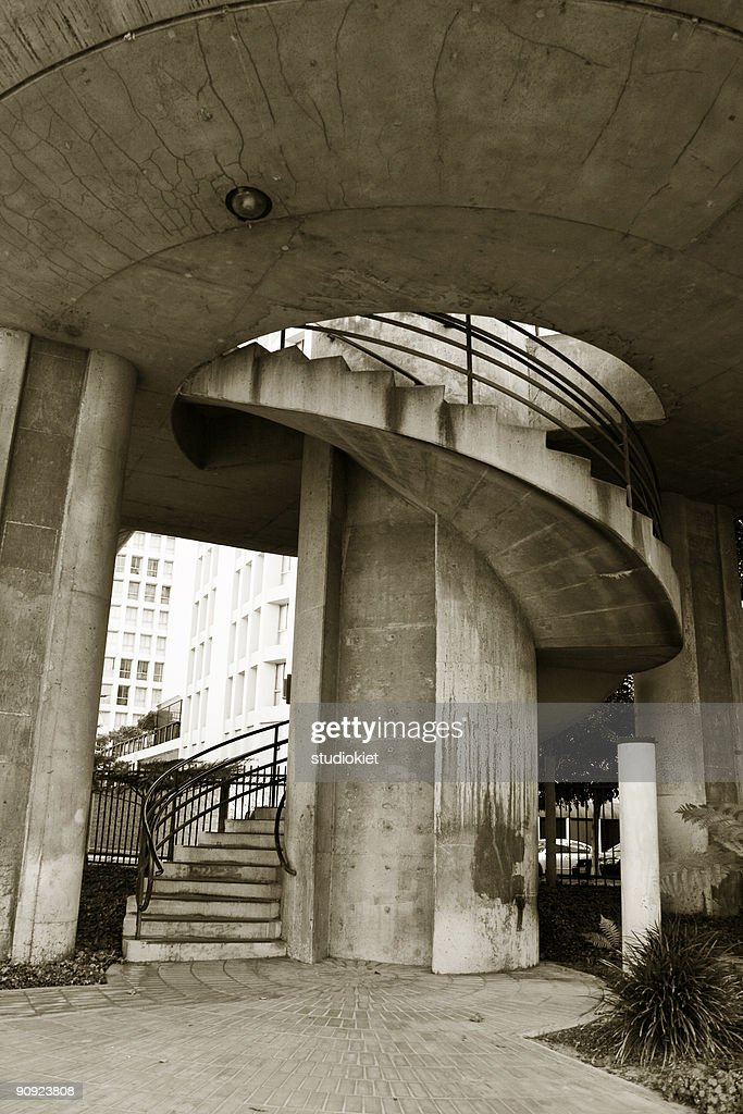 Spiral Staircase In Downtown Los Angeles : Stock Photo