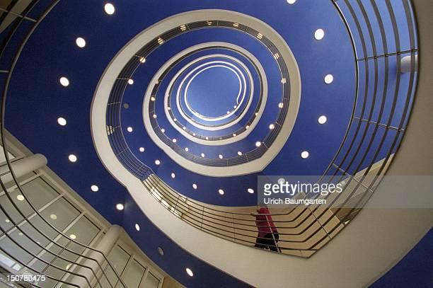 Spiral staircase in the house of the Bayerische Wirtschaft in Munich