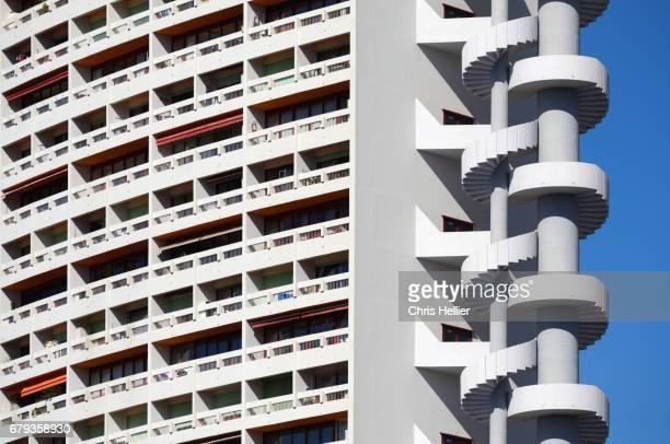 Spiral Staircase & Modernist Brasilia Apartments Marseille