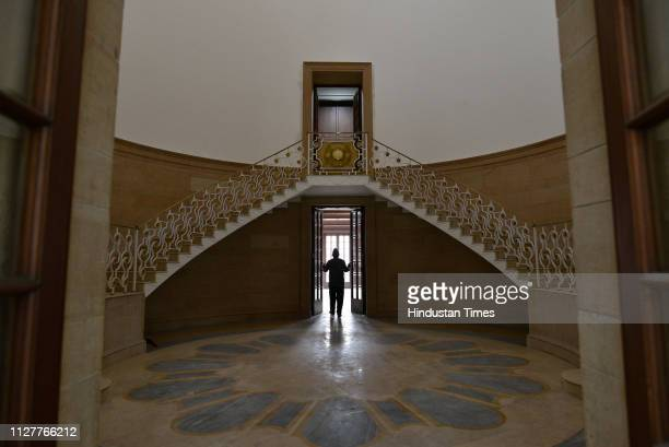 Spiral staircase of Jaipur House on February 13 2019 in New Delhi India Soon it became the goto place for art lovers from all over the country The...