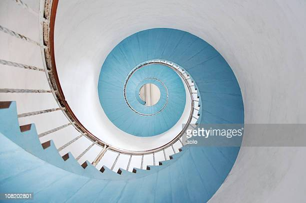 spiral staircase - stairs stock photos and pictures