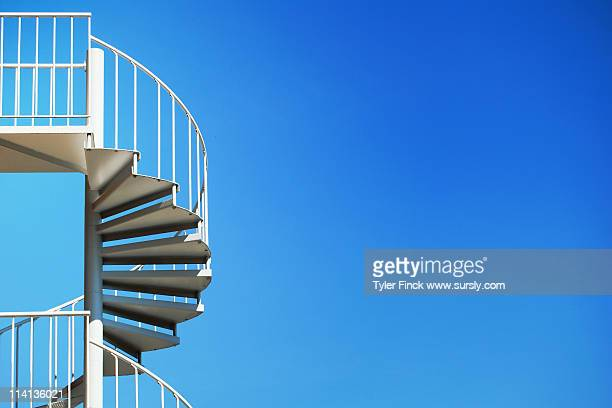 spiral staircase - sursly stock pictures, royalty-free photos & images