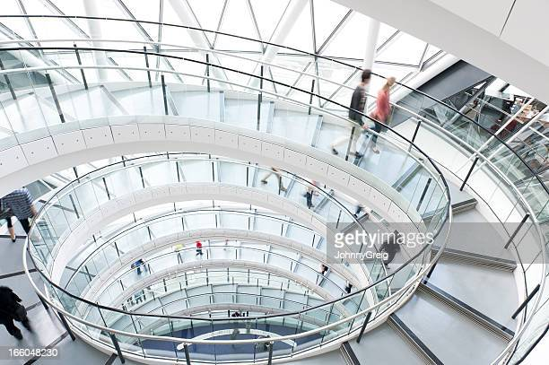spiral staircase - town hall stock pictures, royalty-free photos & images