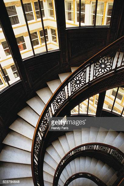 spiral staircase - rookery building stock pictures, royalty-free photos & images
