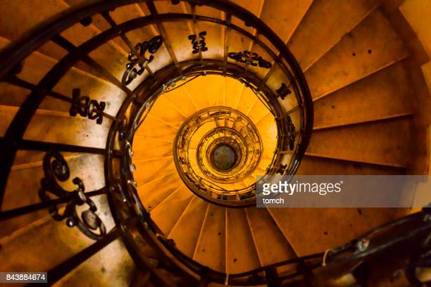 Spiral staircase to the bell tower of St. Stephen's Cathedral.