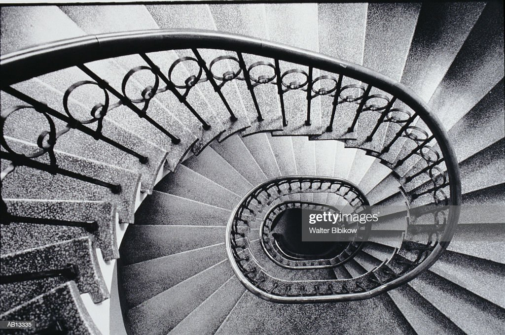 Spiral Staircase View From Above Stock Foto Getty Images