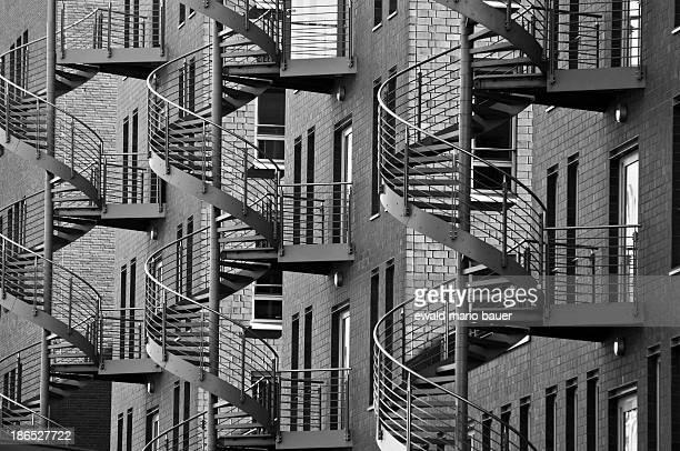 CONTENT] spiral staircases hamburg hafen city stircase monochrome