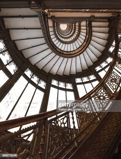 spiral stairs - rookery stock pictures, royalty-free photos & images
