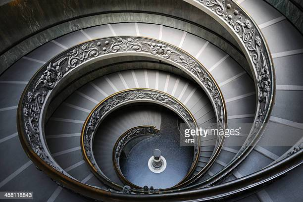 spiral stairway in the vatican museum, rome, italy (xxxl) - art deco stock pictures, royalty-free photos & images