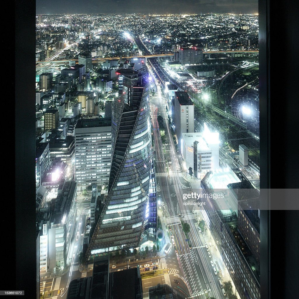 Spiral Towers at night : Stock Photo