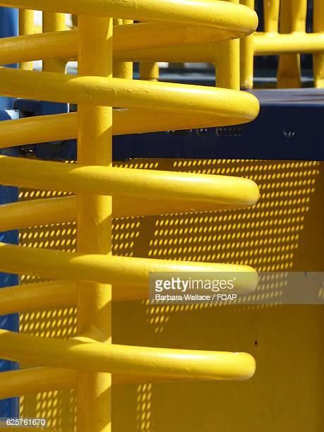 Spiral yellow playground