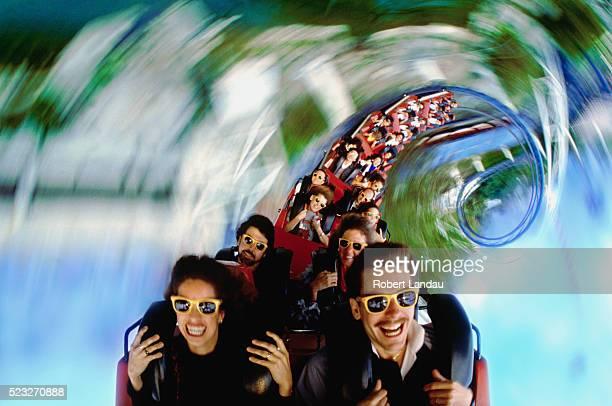 Spiraling Roller Coaster