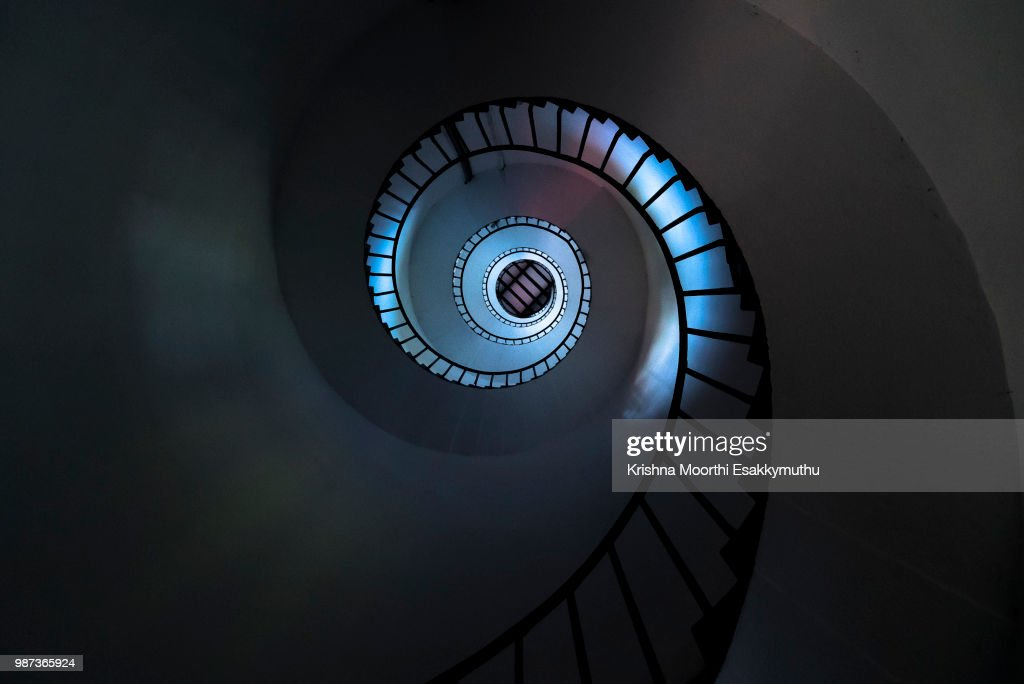 Spirally going up or coming down? : Stock Photo