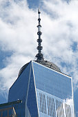 Spire of One World Trade Center (Freedom Tower) as viewed from the ground