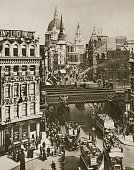 Spire Of St Martin's Ludgate And St Paul's Cathedral London 20th Century