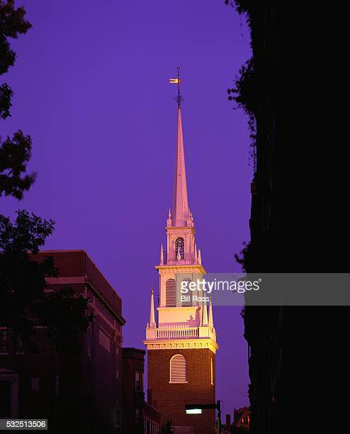 Spire of the Old North Church at Twilight