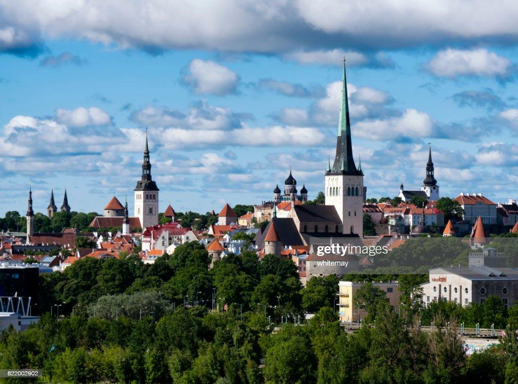 Spires in Tallinn Old Town, Estonia : Stock Photo