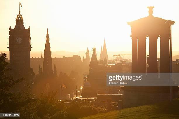 spires of edinburgh - edinburgh scotland stock pictures, royalty-free photos & images