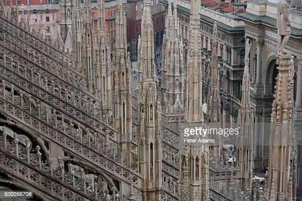 Spires on Cathedral of Milan