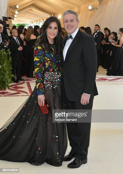 Spirit and Flesh magazine Cheryl Scharf and David Scharf attend the Heavenly Bodies Fashion The Catholic Imagination Costume Institute Gala at The...