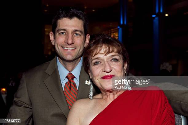 Spirit Award winner Cheryl Sensenbrenner poses for a photo with Congressman Paul Ryan at the 2011 AAPD Awards Gala at the Ronald Reagan Building on...