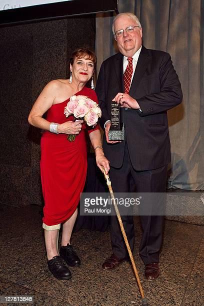Spirit Award winners Cheryl Sensenbrenner and The Honorable James F Sensenbrenner pose for a photo at the 2011 AAPD Awards Gala at the Ronald Reagan...