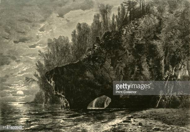 Spirit Harbor' 1872 Rock arch on the shores of Lake Superior USA From Picturesque America or The Land We Live In A Delineation by Pen and Pencil of...