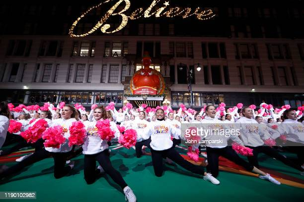 Spirit of America Dance Stars perform during the 93rd Annual Macy's Thanksgiving Day Parade rehearsals at Macy's Herald Square on November 25 2019 in...