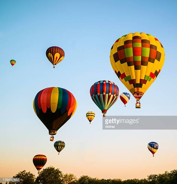spirit of boise balloon classic, 2012 - idaho stock pictures, royalty-free photos & images