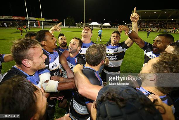 Spirit players celebrate victory in the 2016 NRC Grand Final match between the NSW Country Eagles and Perth Spirit at Scully Park on October 22 2016...