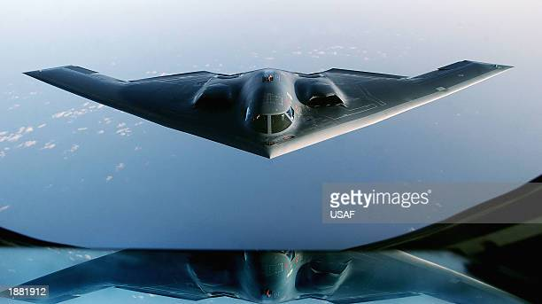 Spirit Stealth Bomber proceeds to an undisclosed location after completing a mission over Iraq March 27 2003 The Pentagon has announced its intention...