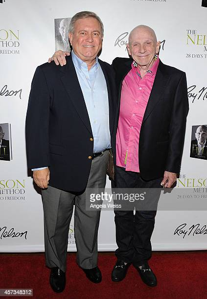 Spiritual Healer/Author Roy Nelson with Business and Fashion Brand Icon Fred Segal attend Roy Nelson's Book Launch for 'Love Notes From Hell' at...