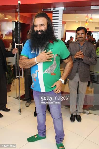 Spiritual leader and the head of the Indiabased sociospiritual organisation Dera Sacha Sauda Gurmeet Ram Rahim Singh during an exclusive interview...