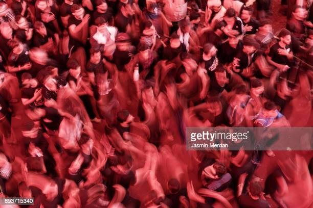 spiritual moving during annual festival in karbala, iraq - bokeh museum stock photos and pictures