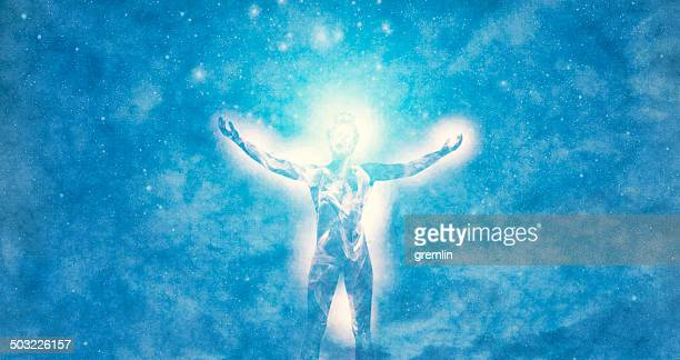 spirituality and cosmic energies - spirituality stockfoto's en -beelden