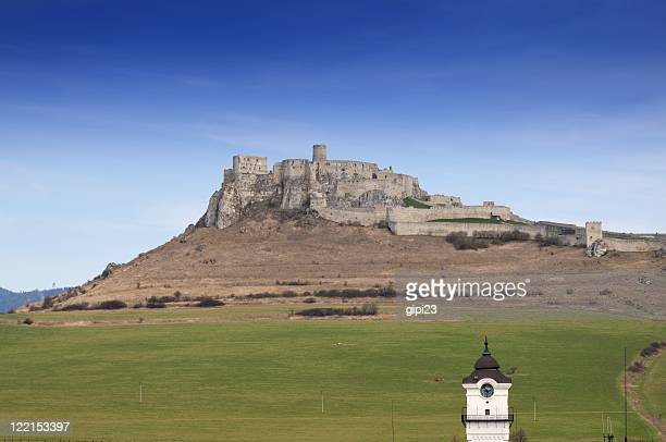 spis castle [spissky hrad] - slovakia stock pictures, royalty-free photos & images