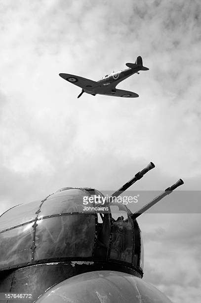 Spitfire and Lancaster aircraft.