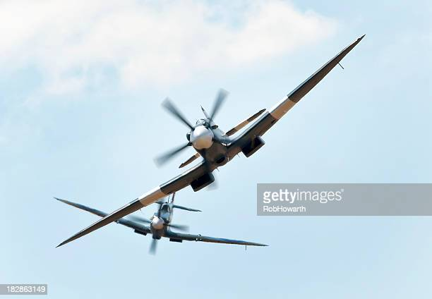 spitfire dogfight - spitfire stock pictures, royalty-free photos & images