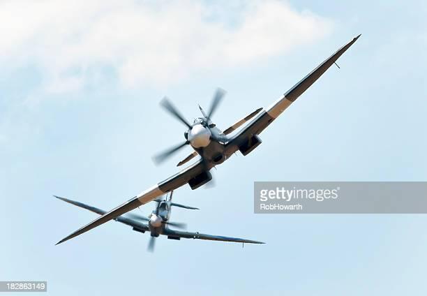 spitfire combate - spitfire - fotografias e filmes do acervo